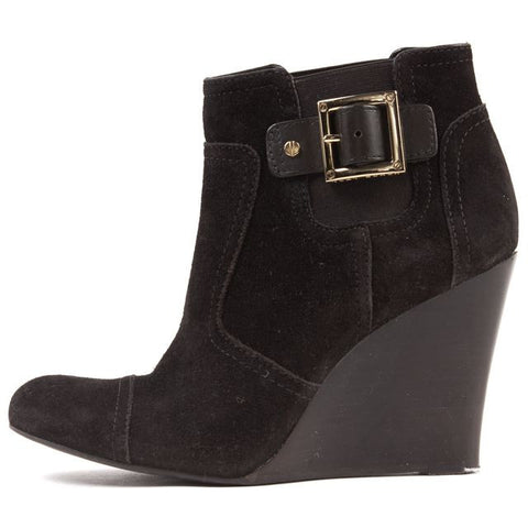 TORY BURCH Brown Suede Wedges Ankle Boots Size 8.5