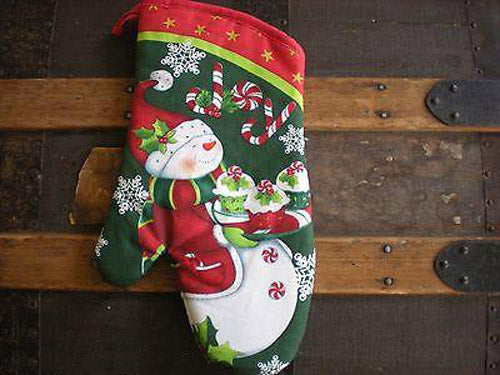 Kay Dee Christmas Joy Snowman Oven Mitt Brookshire Boutique www.brookshireboutique.com