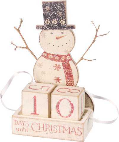 Snowman Christmas Blocks Countdown