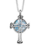 sterling silver 925 ancient roman glass cross necklace israel www.brookshireboutique.com