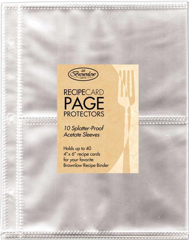 Brownlow's Recipe Binder Card Holder Sleeves