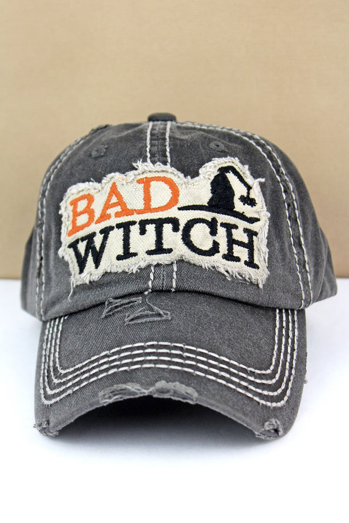 Halloween Baseball Cap Here for the Boos Bad Witch Brookshire Boutique www.brookshireboutique.com