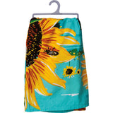 Bee Kind Sunflower Kitchen Dish, Tea or Hand Towel Primitives by Kathy Brookshire Boutique www.brookshireboutique.com