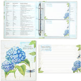 Blue Hydrangea Recipe Binder, Recipe Cards & Insert Pages Brownlow Brookshire Boutique www.brookshireboutique.com