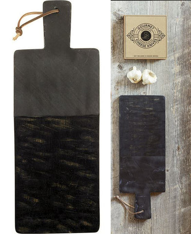 Black Marble & Mango Wood Serving Board
