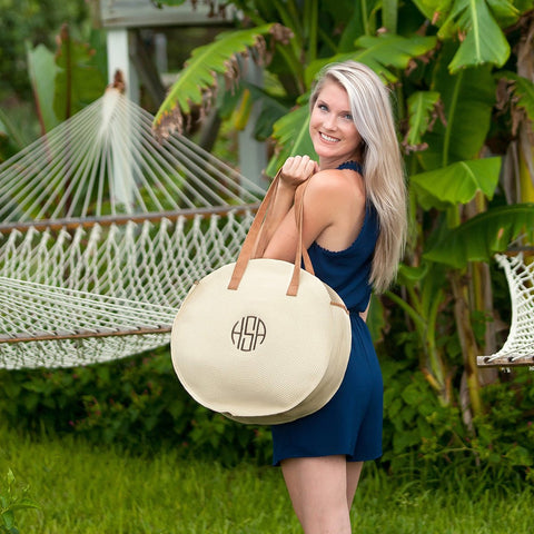 Personalized Bungalow Circle Tote