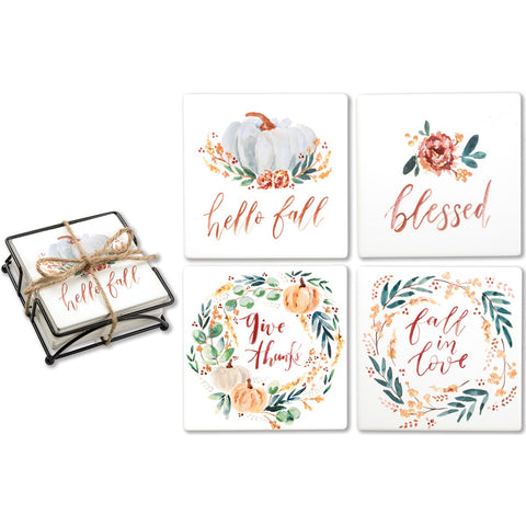 Fall Blessings Coaster Set