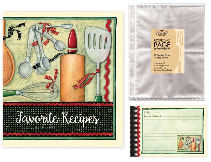 Cook with Love Recipe Binder, Cards & Insert Pages Brownlow Brookshire Boutique www.brookshireboutique.com