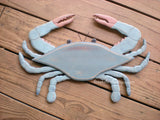 PRIMITIVES BY KATHY WOODEN COASTAL CHESAPEAKE BAY BLUE CRAB WALL HANGING NWT