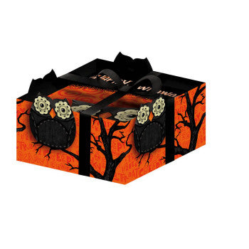 Happy Halloween Owl Cocktail Napkins w Caddy