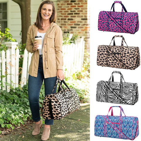 Animal Print Duffel Bag