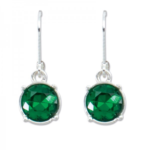 Red or Green Crystal Earrings by Periwinkle