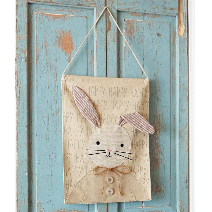 Mud Pie Easter Bunny Door Hanger www.brookshireboutique.com Brookshire Boutique
