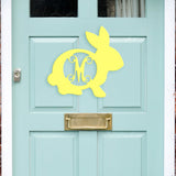 Personalized Wooden Easter Bunny Rabbit Monogram Initial for Wall or Door www.brookshireboutique.com