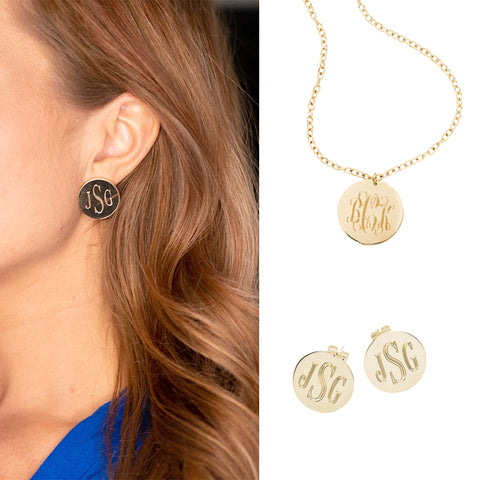 Monogrammed Necklace or Earrings