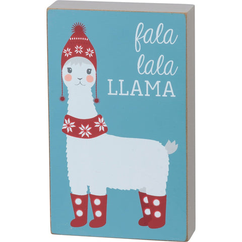 Fala Lala Christmas Llama Box Sign