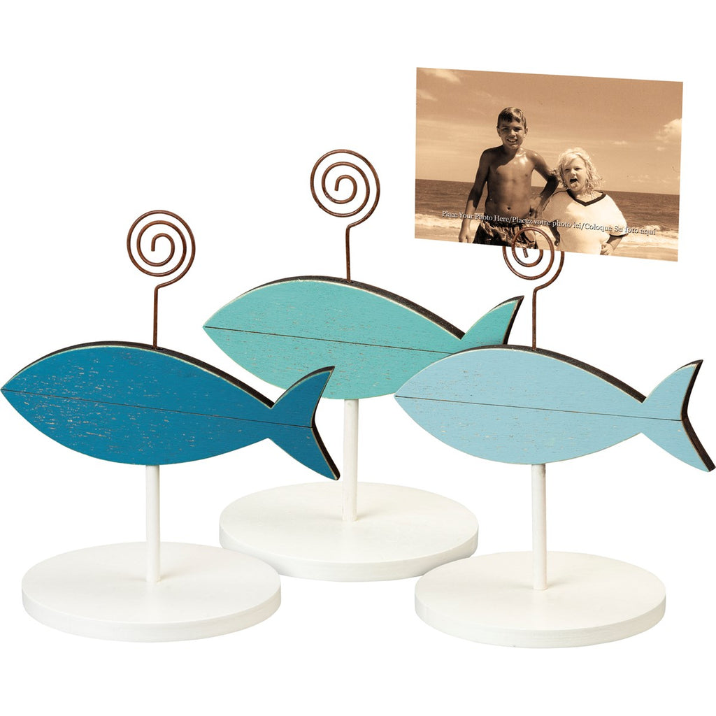 Set of 3 Fish Photo Holders Primitives by Kathy Brookshire Boutique www.brookshireboutique.com