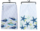 Flour Sack Tea Towel: Saltwater Fish or Starfish Brookshire Boutique www.brookshireboutique.com