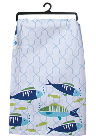 Flour Sack Towel: Saltwater Fish