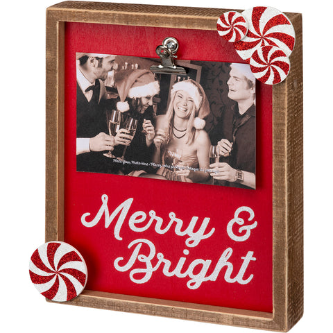 Merry & Bright Christmas Box Frame