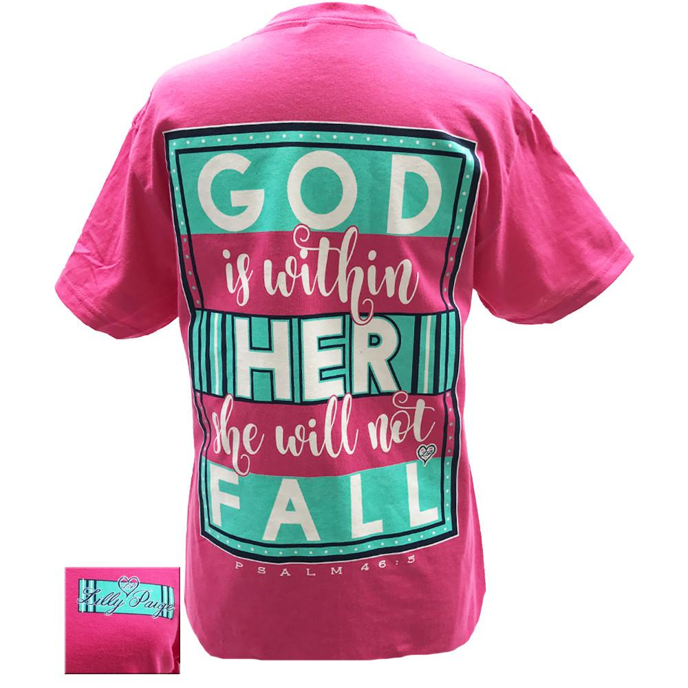 God is Within Her Tee Shirt Psalm 46:5 brookshireboutique.com