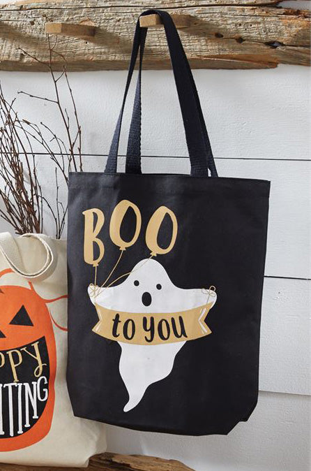 Mud Pie Halloween Canvas Totes www.brookshireboutique.com Brookshire Boutique