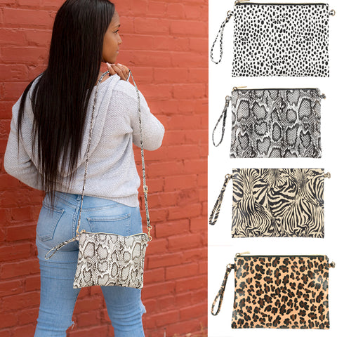 Hayley Animal Print Crossbody Purse