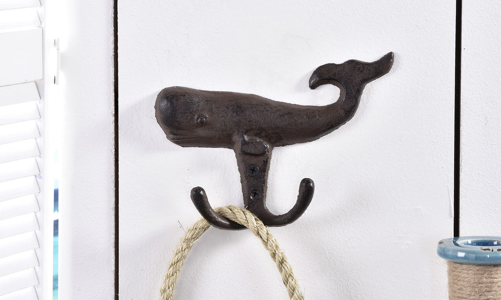 Brookshire Boutique www.brookshireboutique.com Giftcraft Cast Iron Whale Wall Hook