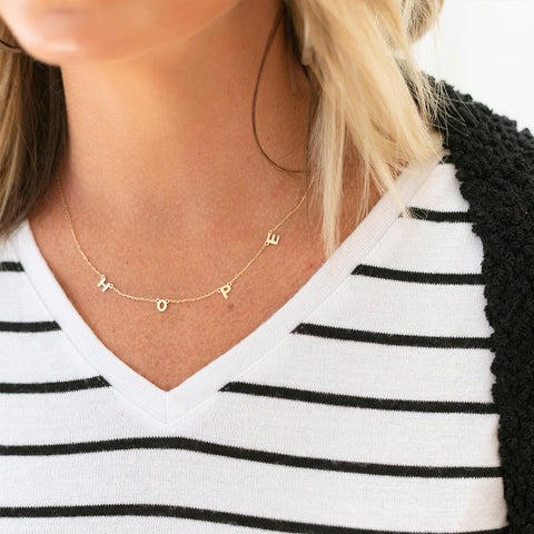 Hope Dainty Word Necklace
