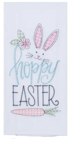 Kay Dee Brookshire Boutique www.brookshireboutique.com Hoppy Easter kitchen hand dish towel