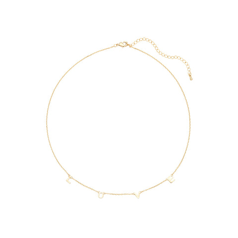 Love Dainty Word Necklace