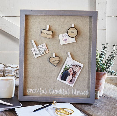 Grateful, Thankful, Blessed Magnetic Board