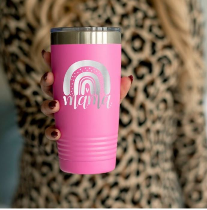 Mama 20oz Insulated Tumbler Brookshire Boutique www.brookshireboutique Viv & Lou