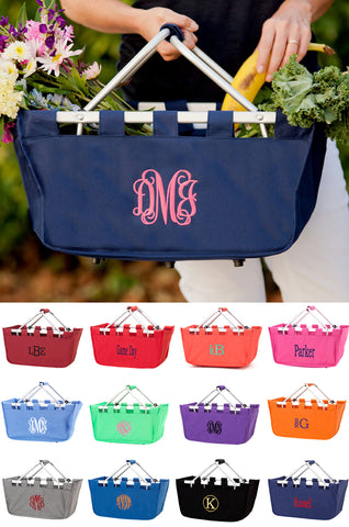 Personalized Monogram Market Utility or Storage Tote