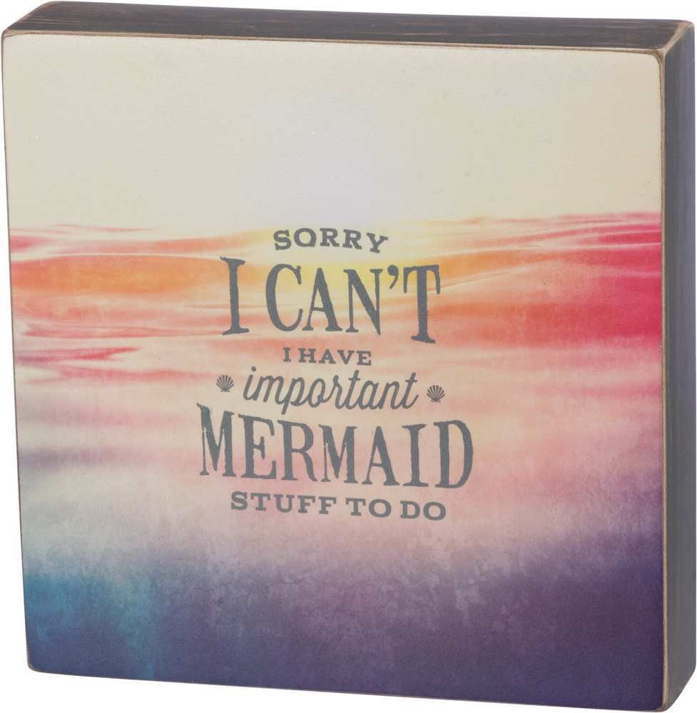Important Mermaid Stuff to Do Box Sign Primitives by Kathy Brookshire Boutique www.brookshireboutique.com