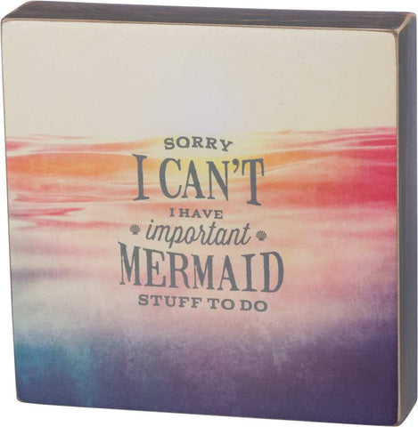 Important Mermaid Stuff to Do Box Sign
