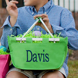 Personalized Mini Market Easter Basket or Toy Storage Tote