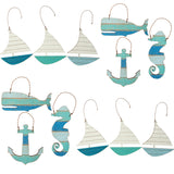 Set of 3 Nautical Ornaments Sailboat Whale Anchor Seahorse Primitives by Kathy Brookshire Boutique www.brookshireboutique.com