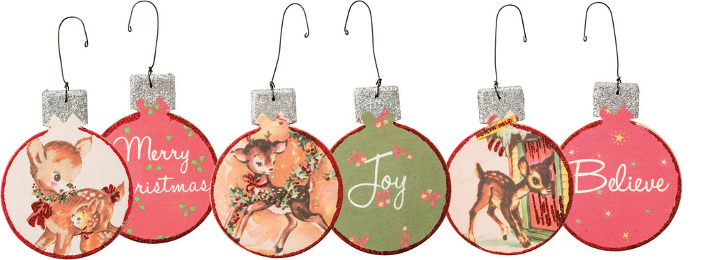 Vintage Style Reindeer Fawn Christmas Ornaments: Set of 3 Brookshire Boutique www.brookshireboutique.com Primitives by Kathy