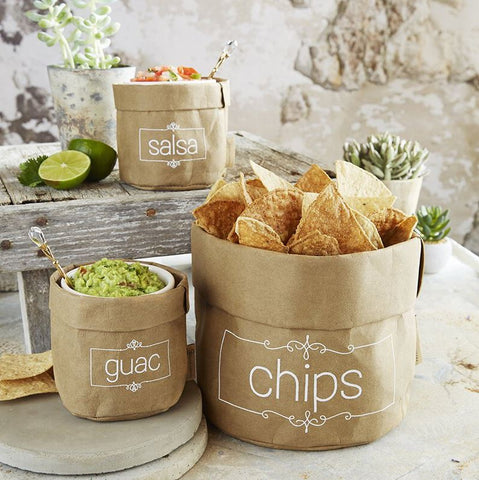 Washable Paper Chips & Dips Holder