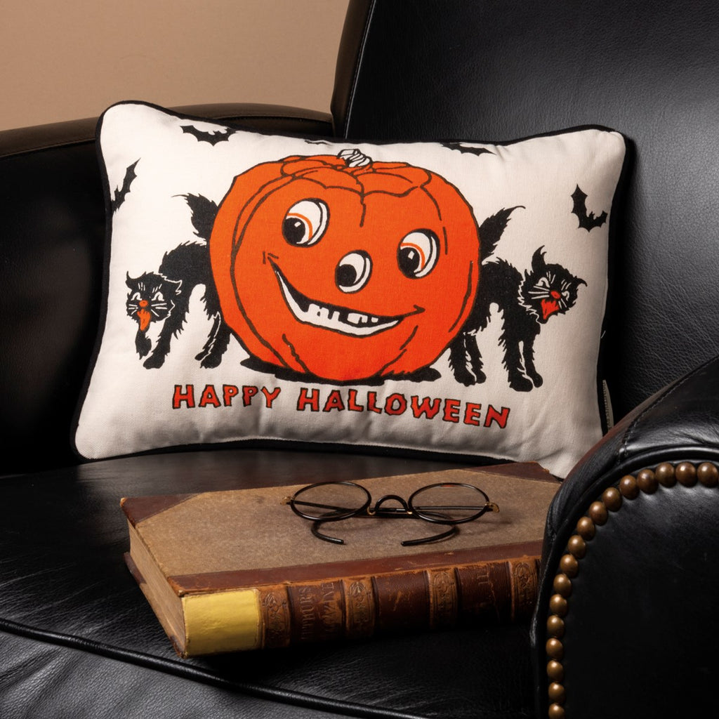 Primitive by Kathy Happy Halloween Pillow Brookshire Boutique www.brookshireboutique.com