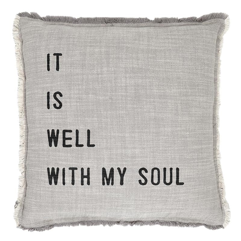 "26"" Euro Pillow: It is Well with My Soul or Heart Icon"