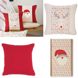 Mud Pie Christmas Pillow Wrap and/or Pillow Brookshire Boutique Reindeer Santa Reversible Pillow