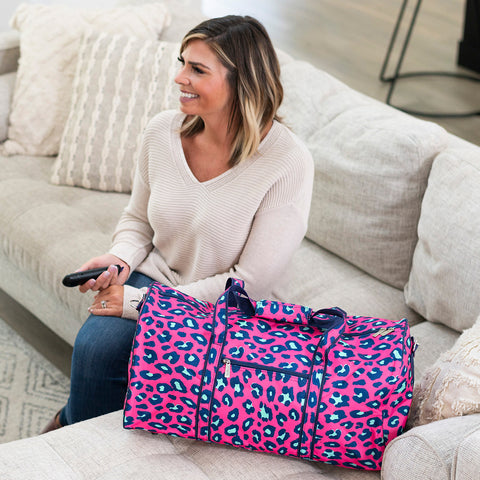Personalized Animal Print Duffel Bag