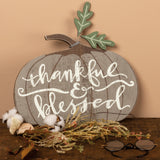 Thankful & Blessed Wooden Pumpkin Primitives by Kathy Brookshire Boutique www.brookshireboutique.com