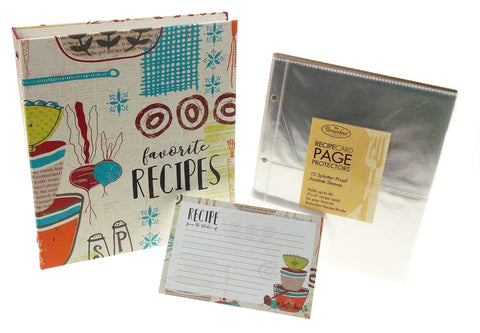 Made with Love Recipe Binder, Cards & Insert Pages