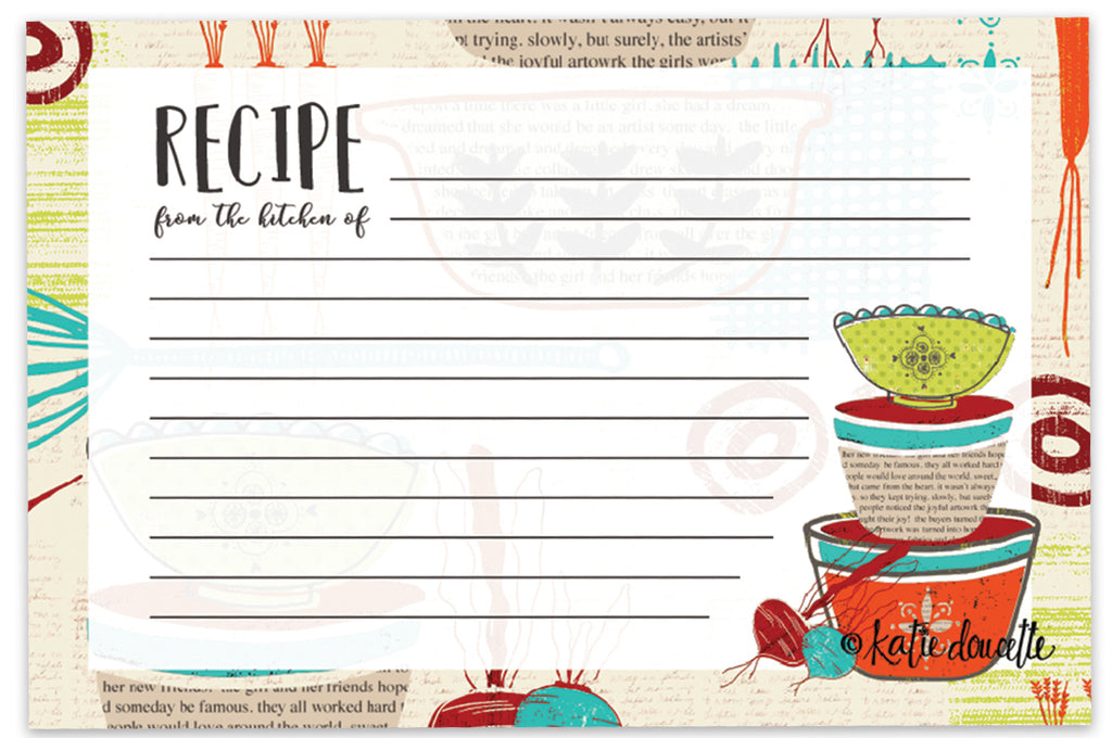 Brownlow's Recipe Cards: Pack of 36 Fresh is Good Made with Love Brookshire Boutique www.brookshireboutique.com