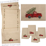Red Truck Christmas Table Runner or Napkin Set Primitives by Kathy Brookshire Boutique www.brookshireboutique.com