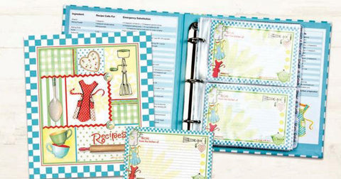 Retro Aprons Recipe Binder, Recipe Cards & Insert Pages