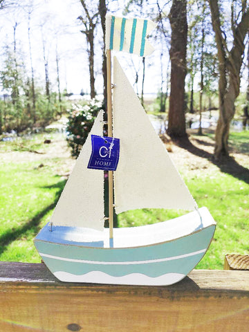 Rustic Wooden Sailboat